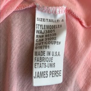James Perse Tops - NWT James Perse Standard Pink Cotton Shirt